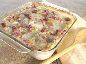 Casserole de jambon et de pommes de terre