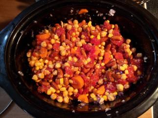 Chili végétarien doux et sucré à la mijoteuse