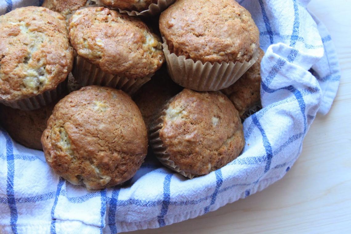 recette facile de muffins aux bananes