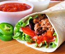 Burritos mexicain à la viande