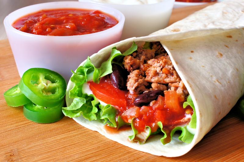 recette facile de burritos mexicain la viande. Black Bedroom Furniture Sets. Home Design Ideas