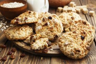 Biscuits à l'avoine et raisins secs