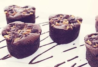 Muffins poires et chocolats