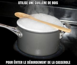 Éviter le débordement de la casserole