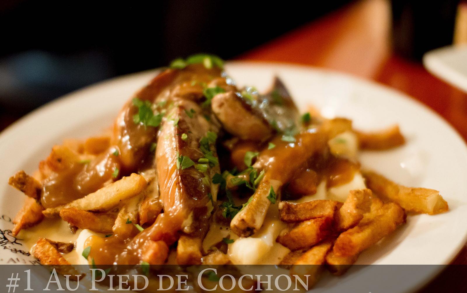 Recette de poutine au foie gras du pied de cochon toute - Cuisiner pied de cochon ...