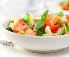 Salade de pâtes au saumon fûmé