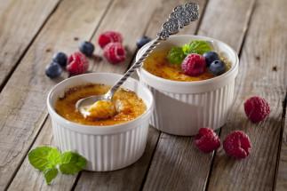 Crème brûlée aux petits fruits
