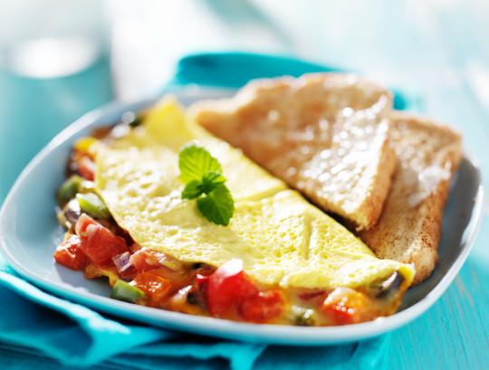 Recette facile d'omelette mexicaine