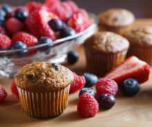 Muffins au son et aux petits fruits