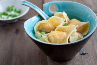 Soupe won-ton aux crevettes