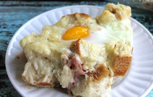 Recette facile casserole déjeuner croque-madame