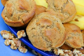 Muffins aux bananes et noix