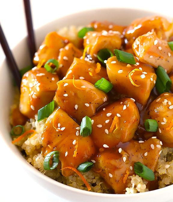 Recette de quinoa au poulet à l'orange