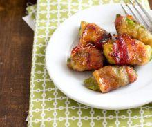 Avocat enroulé dans le bacon