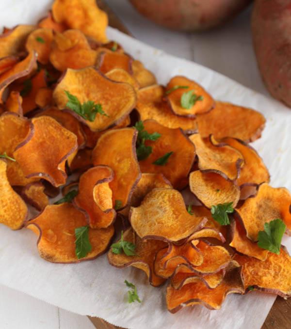 Recette de chips de patates douces santé!