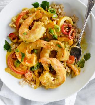Recette facile de crevettes à la sauce thaïlandaise