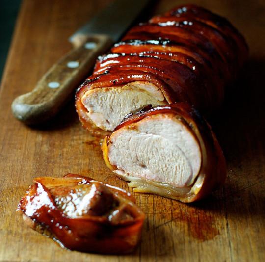 Recette facile de filet de porc enroulé dans le bacon