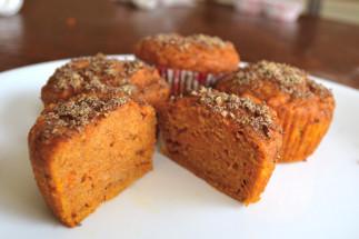 Muffins de patates douces et graines de lins