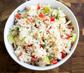 Salade de riz brun et de pommes