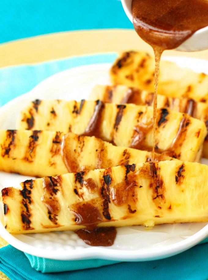 Recette d 39 ananas grill s avec une sauce miel et cannelle - Sauce pour crustaces grilles ...