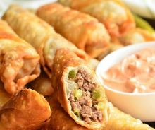 Egg Rolls au Cheeseburger