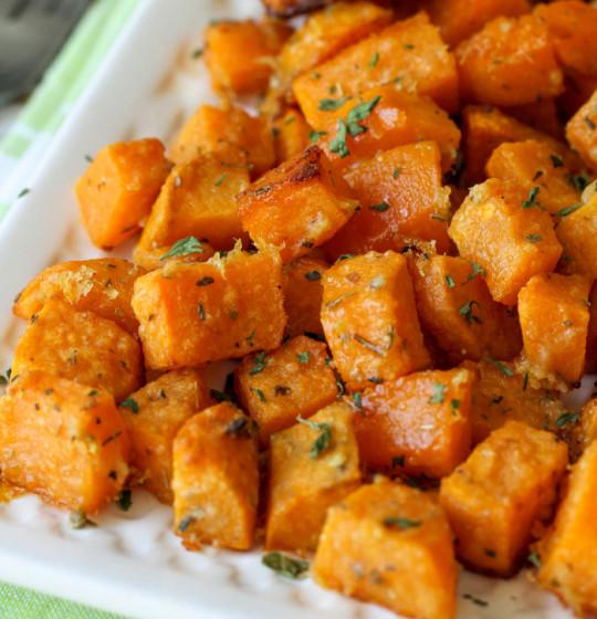 Recette de patates douces au parmesan!