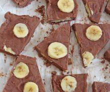 Yogourt glacé banane et chocolat