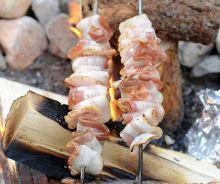 Bacon en camping (sur le feu)