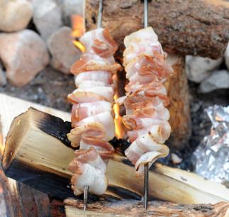 Recette de bacon sur le feu (pour le camping)