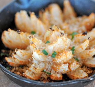 Fleurs d'oignons frits sur le BBQ