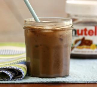 Café latte glacé au Nutella