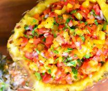 Salsa à l'ananas
