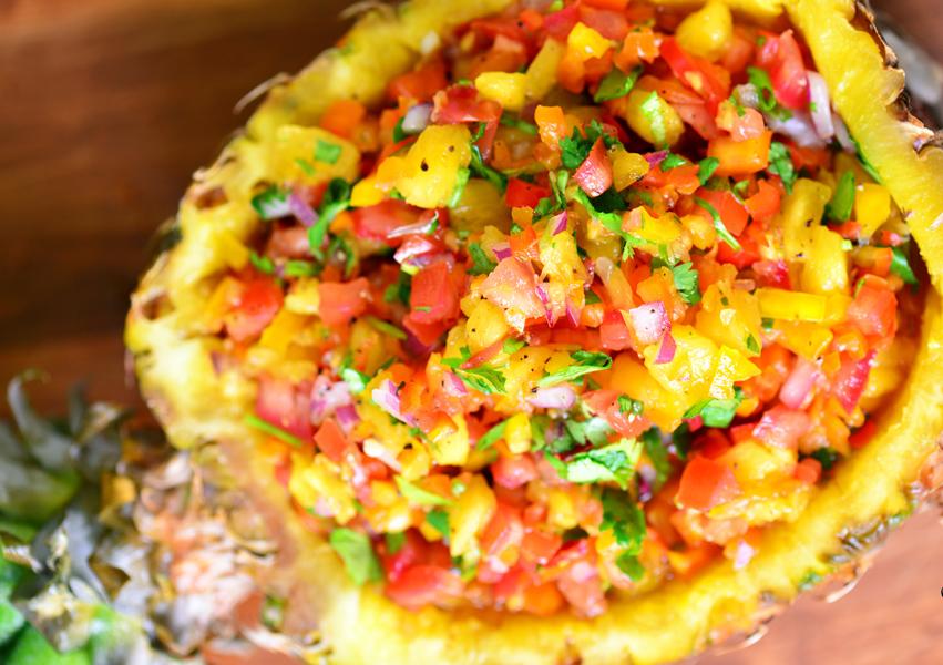 Recette facile de salsa à l'ananas!