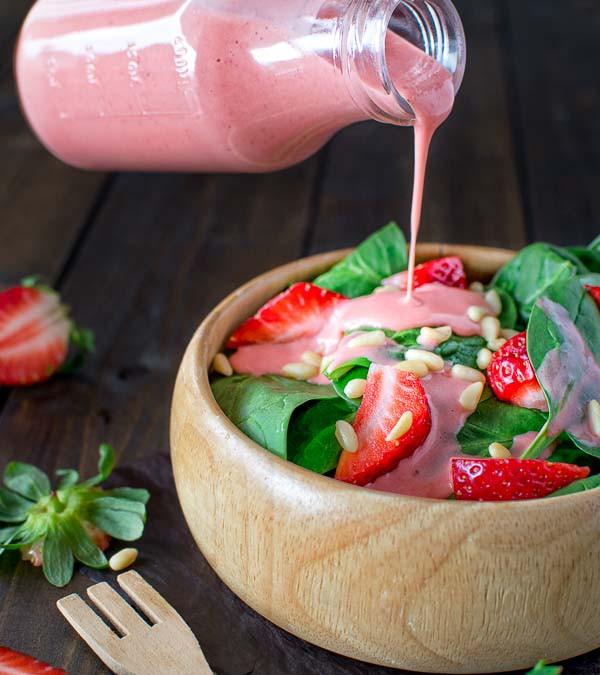 Recette facile de vinaigrette aux fraises!