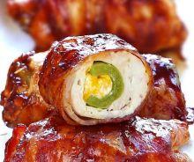 Bombe de poulet et bacon sur le BBQ