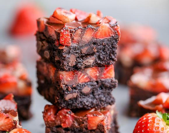 Recette de brownies au chocolat et fraises!