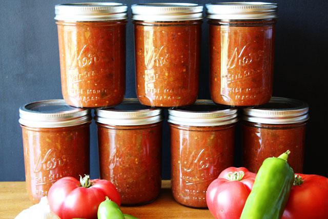 La recette facile de conserves de sauce salsa!