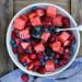 Recette de salade de melon d'eau et fruits des champs