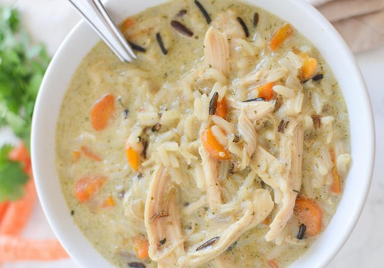 Recette facile de soupe au poulet et riz sauvage