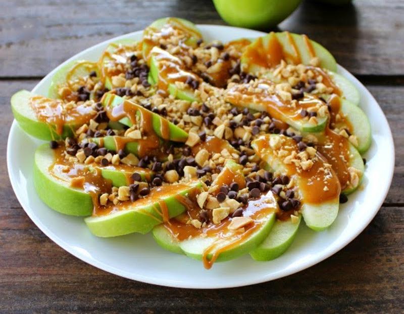 Recette facile de nachos de pommes et caramel