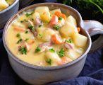 Soupe crémeuse aux patates et bacon