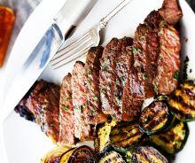 Steaks grillés au Jack Daniel's