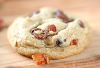 Biscuits au bacon et pépites de chocolat