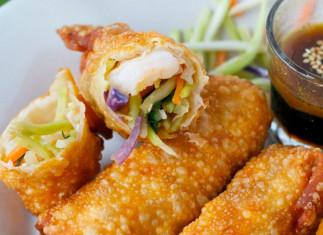 Egg rolls aux crevettes