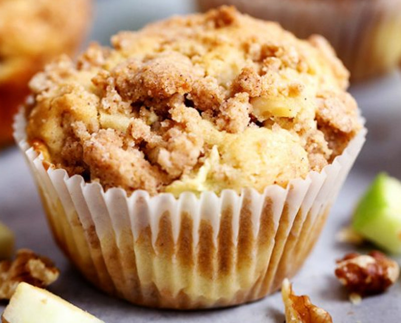 recette facile de muffins au fromage la cr me et aux pommes. Black Bedroom Furniture Sets. Home Design Ideas