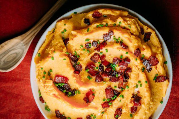 Recette facile de patates pilées hybride avec du bacon