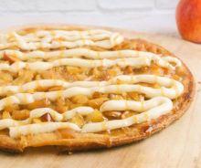 Pizza de tarte aux pommes