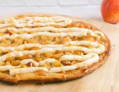 Recette facile de pizza de tarte aux pommes!
