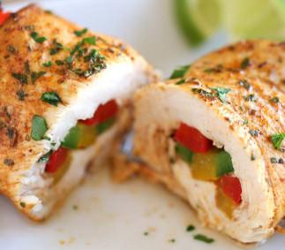 Recette facile de rouleau de poulet (style Fajitas)