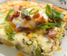 Casserole déjeuner aux œufs et pommes de terre